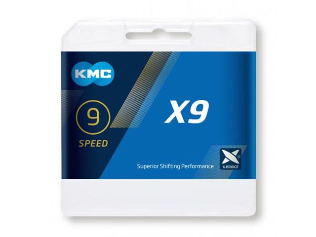 KMC X9 Chaîne de vélo 9-fois, silver/grey